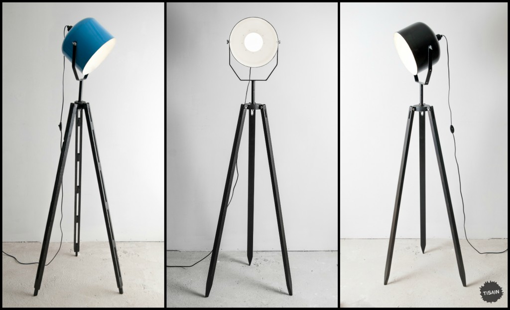 Industrial floor lamps